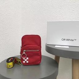 The Cube 預購 正品 Off White OW 帆布 紅色 配經典黃logo背帶 盒裝吊牌防塵袋 肩包 可做腰包