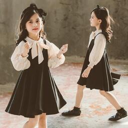 《預購》IEGO~TAB643~韓版童套裝女童春季新品裙套中大童兒童襯衫背心裙兩件套