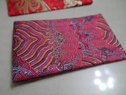 織錦布藝紅包袋 孔雀結 錦緞紅包袋 9.5x17cm 豎款1個 海浪紋