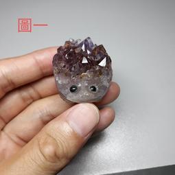 (免運費)紫水晶刺蝟帶鈦晶,開店,擺件,紫水晶,鈦金,招財聚財,賺大錢,業務投資,鈦晶,紫晶鎮,紫晶片,送禮,現貨,好看
