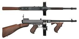 【聯盟軍 生存遊戲專賣店】ARES THOMPSON M1928 EBB 湯姆森芝加哥打字機 全金屬 實木電動槍 免運費