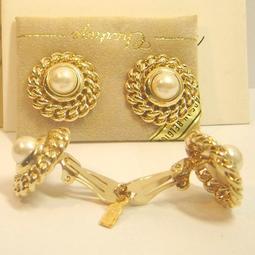 【比利時 Chartage】無過敏無鎳包18K金養珍珠 水晶鑽 夾式耳環(9304334)