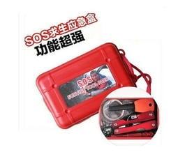 戶外求生工具包 求生應急盒 SOS急救包 戶外旅行地震車用急救盒急救箱戶外求生工具