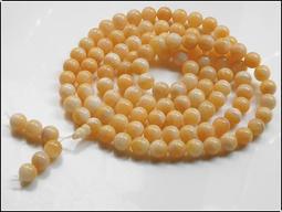【雅之賞|佛教|藏傳文物】特賣*天然優質海南金絲 9mm硨磲108顆佛珠~205402