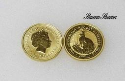 順順飾品--純金金幣--2001年澳洲袋鼠金幣--每個1/10OZ(0.83錢)此標1個