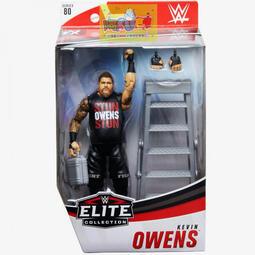 ☆阿Su倉庫☆WWE摔角 Kevin Owens Elite 80 Figure KO精華版人偶附鐵梯及公事包 熱賣中
