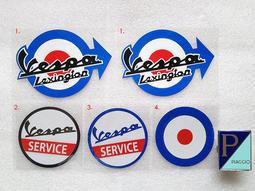 VESPA 偉士牌 PIAGGIO 90 ET3 狐狸 PE PX S SV 小圓錶 標誌 logo 反光 貼紙 ET8