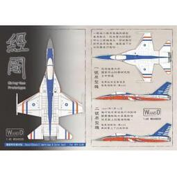 *魔力屋模型*WANDD WDD-48039 1/48 空軍 IDF'經國'戰鬥機適用警語&彩條水貼紙--現貨