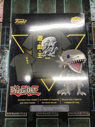 遊戲王 BoxLunch 2019限定紀念版商品-青眼白龍 (Funko Pop! 公仔+T-shirt) 全新未開封~