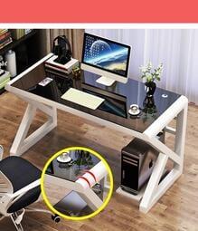 台灣現貨!!!套房首選、時尚、簡約、現代高檔加厚鋼化玻璃電腦桌、台式書桌、學習桌