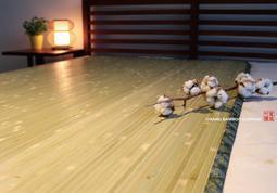 【篁城竹蓆】〔台灣大青涼蓆加大單人3.5X6呎〕草蓆竹席床墊,外銷款(現貨)