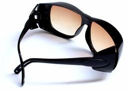 ⚡免運+現貨出貨⚡ 【送厚實眼鏡盒】 透明玻璃防護眼鏡防衝擊防風沙紫外線電焊強光墨鏡勞保平光護目鏡