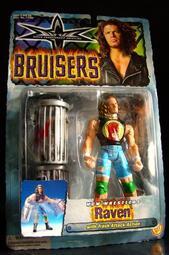 1999 美職摔角 WCW BRUISERS RAVEN 瑞文 SCOTT LEVY 富貴玩具店