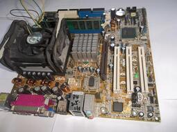 ASUS,華碩主機板,P4P800-VM,P4-2.5CPU,創見1G記憶體,含風扇,良品