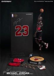 【多金魚】全新 ENTERBAY 1/6 Michael Jordan NBA 麥可喬丹 客場 黑色球衣版 23