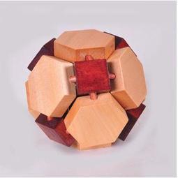 孔明 雙色球 古典 木制玩具 益智玩具 孔明鎖 魯班鎖 牽連鎖 鐵鍊神龍 鍛煉 空間 思維能力