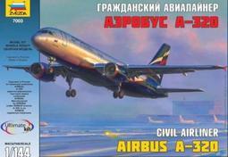 空中巴士民航機 ZVEZDA 1/144 Airbus A320-214 Civil Airliner #7003