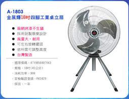 (((宅配免運費)))金展輝-18吋四腳工業扇工業立扇A-1803