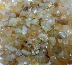【發發開運坊】天然開光黃水晶.碎石一小包100公克~~已淨化