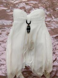 白色針織性感小洋裝.上衣~含運200元