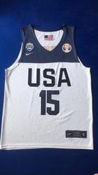 肯巴·沃克 (Kemba Walker) NBA世界盃美國夢幻隊 15號 球衣 白色
