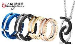 買戒指送鋼鍊 鈦鋼情侶變形戒指 生日送禮物 可當項鍊 對項鍊 單個價【BKY023】Z.MO鈦鋼屋