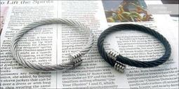 柒彩年代 - 抗過敏防氧化材質【NA56】彈性極佳西德鈦鋼微調設計手環~情侶款手鍊.單條