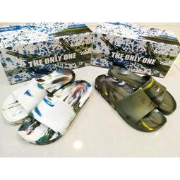 💦2018 newbuffalo牛頭牌💦🐂軍綠/白迷彩 男 💦一體成形 防水拖鞋 無毒 勃肯拖鞋  917431