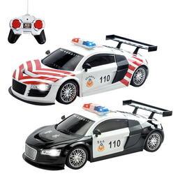 【愛蜜莉生活館】瑪琍歐ST安全玩具/閃耀燈光1:18 四通遙控警車/110搖控高速公路警察車/搖控車 有兩個顏色