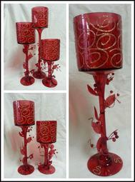 花心小舖婚禮佈置~~紅色高腳玻璃杯組