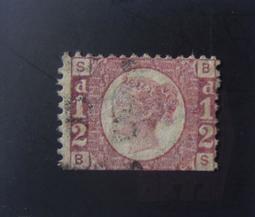 大英帝國1870年代「薇多莉亞女王」1/2便士-A2