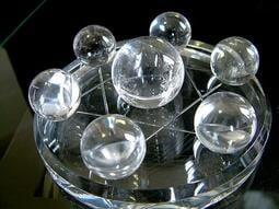 □§Disk的天然水晶§□【水晶之王】近全美激光料天然白水晶球七星陣FM09~