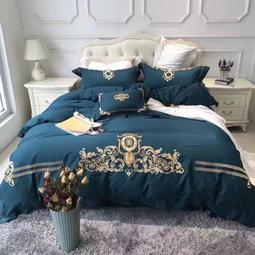 歐美風輕奢高端床罩組床包被套床單枕套寢具用品