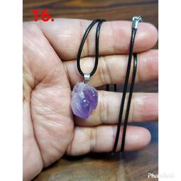 紫水晶 吊墜 吊飾 紫骨幹水晶項鍊 隨形 天然 ❤水晶玉石特賣#B096-16