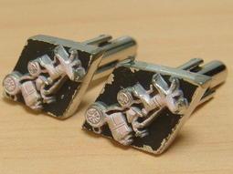 p34【晶玉石】罕見絕版1960年代古董金屬袖扣鈕釦扣子領帶夾領夾~翻袖襯衫專用~與SWANK同年代~一元起標