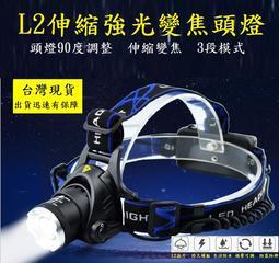 L2頭燈強光.有現貨..1200流明.保固一年(露營,登山,必備) XM-L2伸縮變焦強光頭燈