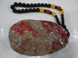 天然昌化雞血石  精雕...如魚得水把件-2    低價分享收藏!
