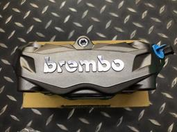 Brembo 鑄造一體式輻射卡鉗 AK550 光陽盒裝(含原廠煞車皮)輻射卡鉗 灰底銀字 活塞32/32 孔距100mm