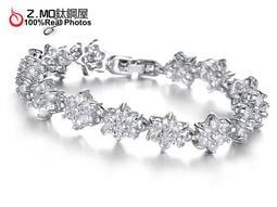 韓系白金流行手鍊 精緻華麗 新娘配件 公主風格 單件價【CKA932】Z.MO鈦鋼屋