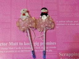 ~~花心小舖婚禮小物~~婚禮熊禮金筆,也可訂製簽名筆,商品為一對的價格