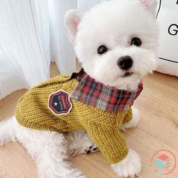CUBE STORE | 格紋學院毛衣 寵物衣服 寵物服飾 狗 衣服 貓 衣服(現+預) 貴賓 西高地 瑪爾 雪納瑞