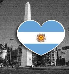 【國旗商品創意館】阿根廷國旗抗UV、防水愛心形旅行箱貼紙/Argentina/各國都有販賣和客製
