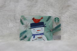 美國 星巴克 STARBUCKS 2017 雪人與紅鳥 聖誕系列 隨行卡 儲值卡 星巴克卡 卡片 限量 收藏