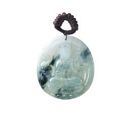 天然 翡翠 特色巧雕 冰種 佛祖 大師工藝 百分百天然翡翠 正品保證 假貨包退