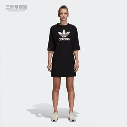 9527 adidas Originals 楊冪 黑 短袖 長版上衣 連身裙 洋裝 長版T DP8593
