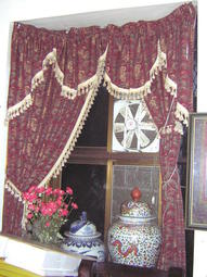 [隨喜二手窗簾 窗簾 流蘇高級窗簾出清  布尺碼為  (長 230cm 寬 100cm x 2片)