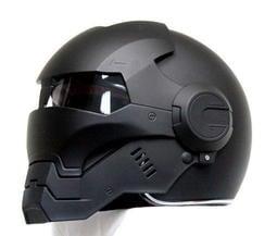 (限量特價)鋼鐵人 IRON MAN安全帽 Masei 610 面罩可掀 3/4安全帽 (消光黑)