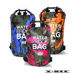~排汗王~X-MAX~背包-1600雙揹漂流包迷彩防水包-30L~溯溪~衝浪~釣魚~玩水~