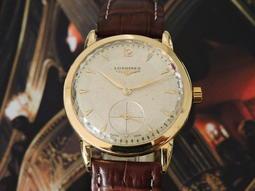 原裝真品 正18K金 Longines 浪琴 典藏手上鍊機械(27M)古董男錶 女錶 中性錶