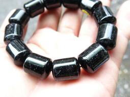 ~shalin-crysta~黑髮晶能量桶珠~80.39公克~平衡~創造~能量優質~低價起標!